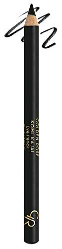 Golden Rose Waterproof Kajal Eyeliner, Intense Black (Blackest Black)