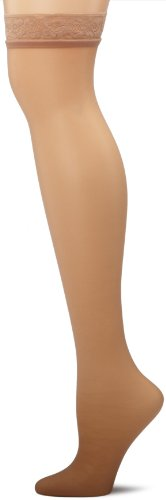 (Hanes Women's Silk Reflections Thigh Highs, Soft Taupe, A/B)