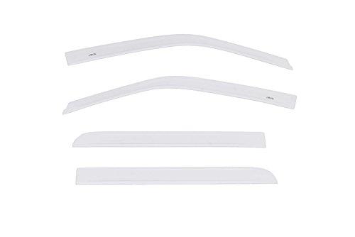 4-Z1 Color Match Low Profile Ventvisor Side Window Deflector, 4-Piece Set for 2015-2018 Ford F-150 SuperCrew & 2017-2018 Raptor SuperCrew, Oxford White ()
