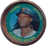 1971 Topps Topps Coins (Baseball) Card# 1 Clarence Gaston of the Atlanta Braves Ex Condition