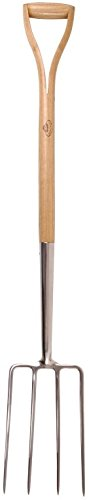 Esschert Design USA GT24 Wooden Handle Pitch Fork