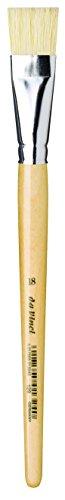 (da Vinci Student Series 129 Paint Brush, Bright White Chinese Bristles with Plainwood Handle, Size 18 (129-18))