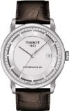 Tissot Luxury Powermatic 80 Automatic Silver Dial Brown Leather Mens Watch T0864071603100 ()