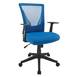 Brenton Studio(R) Radley Mesh Low-Back Task Chair, Blue/Black