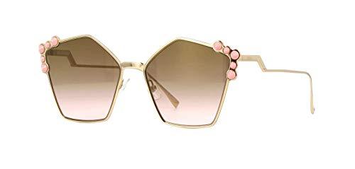 Fendi FF0261/S Sunglasses Rose Gold w/Brown Gradient Lens 57mm 00053 FF0261S FF 0261S FF 0261/S