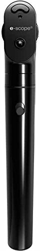 Riester 2123-203 E-Scope Ophthalmoscope, AA Handle with Fiber Optic 3.7V LED, Black