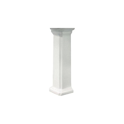 Decolav Vitreous China Pedestal - Transolid TP-1480-01 Harrison Vitreous China Pedestal Leg Only in White,