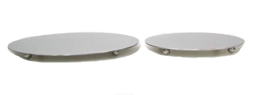 StainlessLUX 75403 Brushed Stainless Steel Round Cheese Plate / Cheese Board - Quality Cheese Accessories for Your Enjoyment