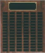 Genuine Walnut Perpetual Plaque - 84 Plate Perpetual Plaque 18