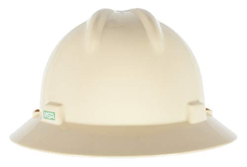 MSA Light Buff Polyethylene Full Brim Hard Hat With 4 Point Pinlock Suspension - Pack of 20 by MSA SAFETY SALES LLC (Image #1)