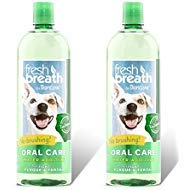 Tropiclean Fresh Breath Plaque Remover Pet Water Additive 33.8 Ounce - 2 Pack from TropiClean