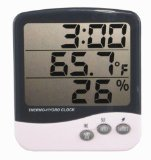 General Tools DTH04 Digital Jumbo Display Temperature and Humidity Monitor with Clock