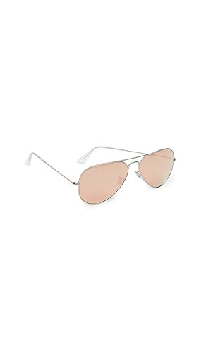 Ray Ban Women's RB3025 019/Z2 Silver/copper flash, Aviator 58mm Sunglasses
