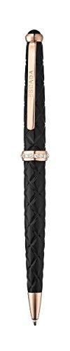 escada-rose-gold-plated-black-abstract-floral-ballpoint-pen-e90025