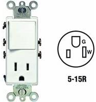 5625 wiring diagram leviton leviton pilot images pilot light wiring wiring a switch outlet combo circuit leviton r12 5625 w single pole switch receptacle