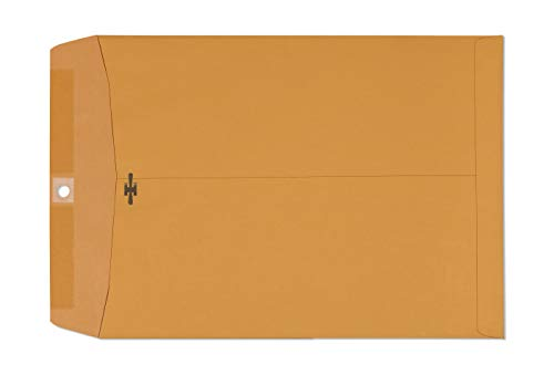 Clasp Envelopes 9x12 – Brown Kraft Catalog Envelopes with Clasp Closure & Gummed Seal – 28lb Heavyweight Paper Envelopes for Home, Office, Business, Legal or School Pack- 9 x 12 Inch 30 Pack