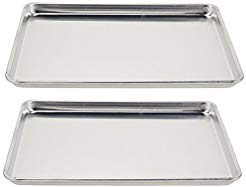 Vollrath (5303) Wear-Ever Half-Size Sheet Pans, Set of 2 (18-Inch x 13-Inch x 1-Inch, -