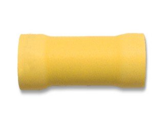 12-10 Ga Butt Connector Yellow Vinyl Insulated-100Pack