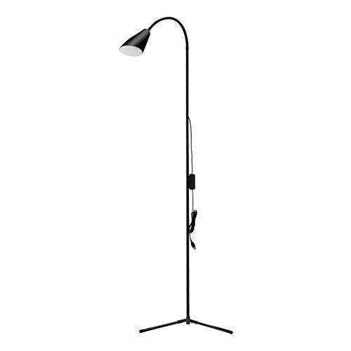 LED Floor Lamp, Dimmable LED Reading Lamp for Living Room, Torchiere Floor Lamp,Modern Tall Standing Pole Uplight Light for Living Room, Dorm, Bedroom, Office, Reading, Protect Eye (Black)