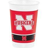 Nebraska Huskers Tailgate - 96 NCAA University of Nebraska Huskers Drinking Tailgate Party Cups - 20 oz.