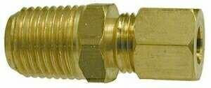 Midland 18-204 Brass Male Adapter, 7/16