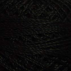 Valdani Perle Cotton Size 8 Embroidery Thread, 72 Yard Ball - 1 Black