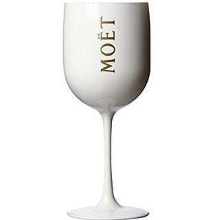 Champagne Moet Rose (Moet Chandon Ice Imperial White Acrylic Champagne Glass by Moet)
