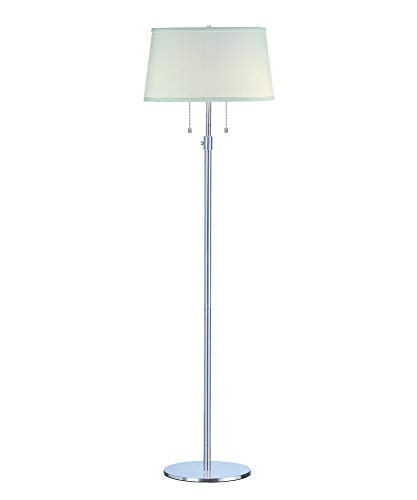 Trend Lighting TFB435-26 2 Light Urban Basic Club Floor Lamp, Chrome ()