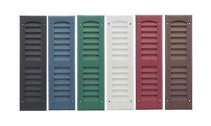 OUTDOOR PLAY AND STORAGE LOUVERED Molded SHUTTERS 6''X21'' (Pair) (White) by OUTDOOR PLAY AND STORAGE