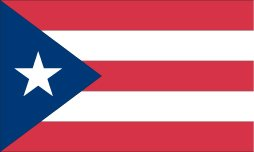 Puerto Rico Indoor Outdoor Dyed 2-Ply Polyester Flag Grommets 5' X 8'