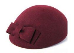 Dealzip Inc®Wine Color Elegant Wool Lady Women's Classic Top Knot Hat Bow Beret Beanie Style Hat+Random gift