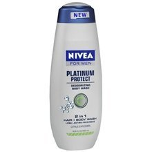 Nivea For Men Platinum Protect Deodorizing Body Wash Citrus Explosion, 16.9-Ounce (Pack of 2)