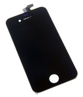 OWC Replacement Glass Digitizer LCD Touch Screen For Apple iPhone 4S Black. Apple OEM, New Model APLIPH4SDISPB (Screen 4s Iphone Oem Replacement)