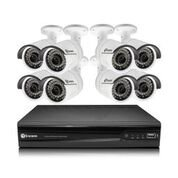 Swann SWNVK-874008-US Super HD with 8 x 4MP Surveillance DVR Security System, 8 Channel 2TB NVR, Black/White