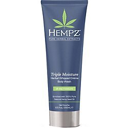 Hempz Triple Moisture Herbal Whipped Creme Body Wash, Off Yellow, Enchanted Grapefruit/Sparkling Peach, 8.5 Fluid Ounce