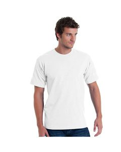 (3601 Bella+Canvas Men's Burnout Tee, White , XXX-Large)