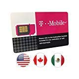T-Mobile Prepaid SIM Card Unlimited Talk, Text, and Data in USA with 5GB Data in Canada and Mexico for 60 days