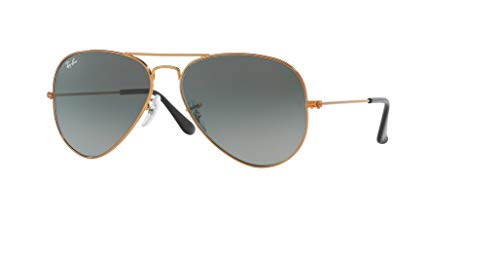 Shiny Grey Sunglasses - Ray-Ban RB3025 AVIATOR EVOLVE 197/71 55M Shiny Bronze/Light Grey Gradient Dark Grey Sunglasses For Men For Women
