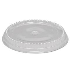 Genpak APET Clear Lid for 10 inch Round Cake Tray -- 200 per case.