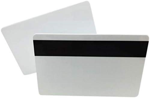 Premium Plastikkarten Weiss mit Magnetstreifen HiCo | 1-500 Stück | Rohlinge blanko für Kartendrucker, NEU! (100)