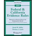 Download Federal & California Evidence Rules, Printed on Facing Pages for Comparative Study, With Notes, Comments, & Selected Legislative History, 2009 (4th, 09) by Miller, David W [Paperback (2009)] PDF