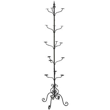 Amazon.com: Elegante Negro metal 14 gancho colgador espiral ...