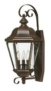 Hinkley 2426CB Clifton Park Brass Outdoor Lantern Fixture, Copper Bronze - Clear Beveled Bound Glass