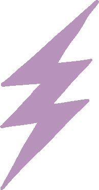 hBARSCI Lightning Bolt Vinyl Decal - 11 Inches - for Walls, Windows, Doors, Vehicles, Outdoor-Grade 2.5mil Thick Vinyl - Lilac