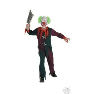 Buttons The Clown Costumes (Zombie Clown Scary Costume Medium 7-10 NWT)