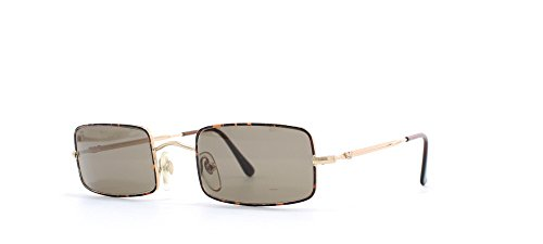 Emporio Armani 018 759 Gold and Brown and Red and Black Authentic Men - Women Vintage - Vintage Sunglasses Armani