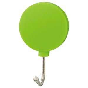 生活日用品 (まとめ買い) カラーマグネットフック スイング 耐荷重約1kg 緑 1個 【×40セット】 B074JN9X5S