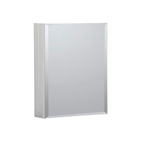 B C 16 X20 Aluminum Medicine Cabinet With Mirror Color Satin Bathroom Mirror Cabinet With Adjustable Glass Shelves Storage Cabinet For Bathroom Recessed Or Surface Mounting