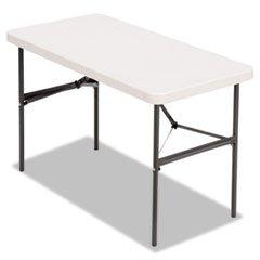 ** Banquet Folding Table, Rectangular, Radius Edge, 48 x 24 x 29, Platinum/Charcoal