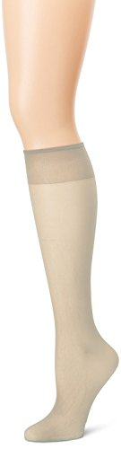 Sheer Taupe Hosiery - Grandeur Hosiery Women's Ladies Plus Size Queen Sheer Support Knee High Stockings 3-Pack Taupe 2X